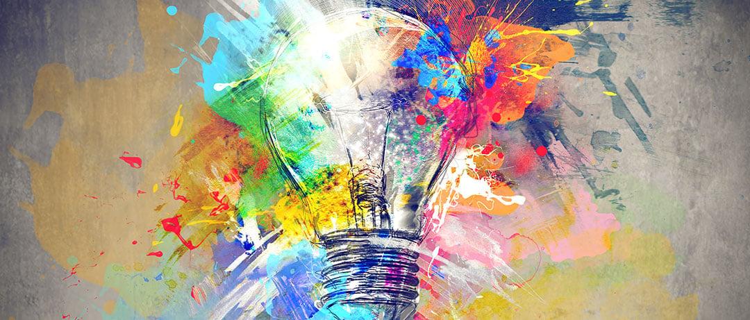 Creative Paint and Lightbulb