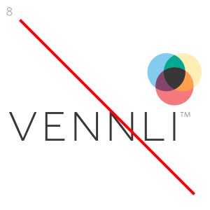 Do not modify the size or location of the vLens or word-mark.